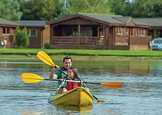 Canoeing on the lake at Dacre Lakeside Park - Brandesburton Holiday Lodges near Driffield Yorkshire