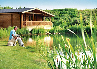 Fishing lake at Dacre Lakeside Park - Holiday Lodges near Driffeld East Yorkshire England