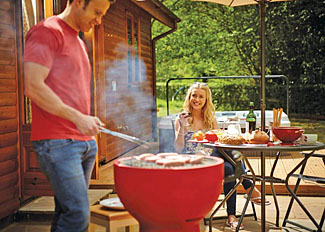 Ford Farm Holiday Lodges near Newent Gloucestershire - Outdoor space at typical Kilcot Elite Spa 2 Lodge ( Ref LP14417 )