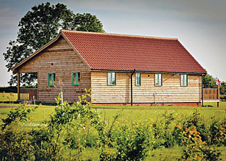 Exterior of Skylark Lodge ( Ref LP5736 ) at Oak Farm - Holiday Lodge near Diss in Norfolk England