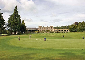 Golf course at Slaley Hall Holiday Lodges Northumberland UK