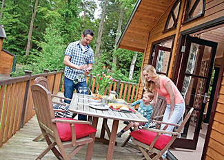 Verandah at Lakeview Premier 3 Lodge ( Ref LP11249 ) Norfolk holiday lodge in Fritton