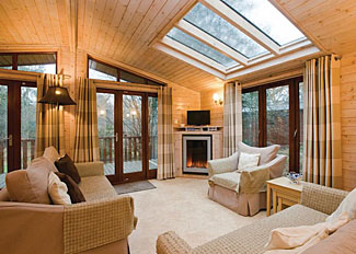 Typical interior of Woodland Deluxe 3 Lodge ( Ref LP11252 ) at Holiday Lodges in Fritton Norfolk
