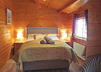 Bedroom in Buzzard Lodge ( Ref LP11897 ) Mill Meadow Holiday Lodges in Llanbister Powys Wales
