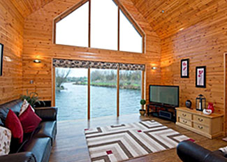 Living area of Lower Lake Boathouse Lodge ( Ref LP5572 ) Holiday Lodge accommodation at Anglesey Lakeside North Wales
