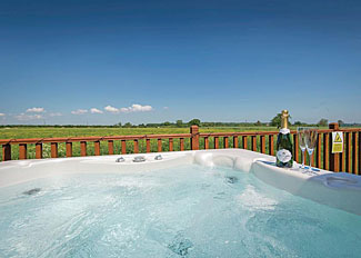 Photo of hot tub at Sunrise Spa Lodge ( Ref LP15152 ) Holiday lodge near Cottingham Hull England