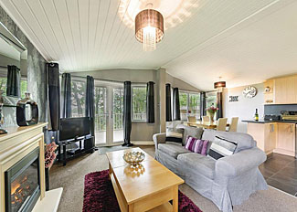 Interior of Valentine Lodge at Bluewood Lodges ( Ref LP6722 ) Kingham Accommodation - Holiday Lodges in Oxfordshire England