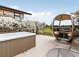 Outdoor space at Beauly Lodge at Kessock Highland Lodges - Self catering accommodation in Inverness-shire Scotland