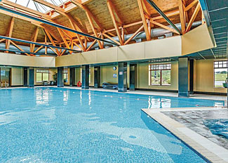 Indoor swimming pool at Piperdam Lodges - Self catering accommodation near Dundee Scotland