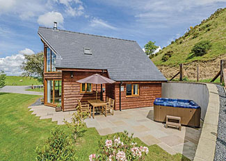 Typical Pool View Lodge ( Ref LP11436 ) Holiday Lodge at Slate House Lodges Llandinam Powys Wales