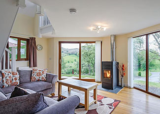 Photo of living area in Pool View Lodge ( Ref LP11436 ) Little London Holiday Lodges in Llandinam Wales - Slate House