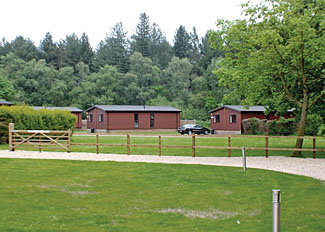 Setting of typical Allington Lodge ( Ref LP6213 ) Bainland Holiday Lodges Woodhall Spa Lincolnshire England
