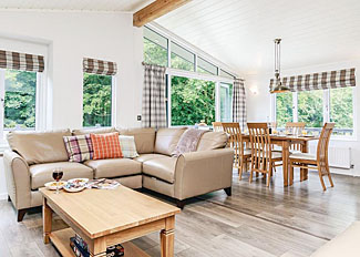 Typical interior of Netherfield Watersedge Lodge at ( Ref LP9045 ) at Bath Mill Lodge Retreat - Holiday Lodges at Newton Saint Loe in Somerset England