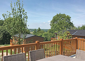 Decking area at Appledore Lodge ( Ref LP14306 ) Canterbury holiday lodge in Kent England