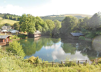 Park setting at Herons Lake Retreat - Holiday Lodges in Caerwys North Wales - Accommodation in Flintshire Wales