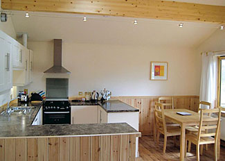 Kitchen/dining area in typical Tadpole Lodge ( Ref LP5294 ) Self catering accommodation at Oasis Lodges Herefordshire England