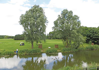 Fishing lake at Old Nene Golf and Country Club Ramsey Cambridgeshire UK