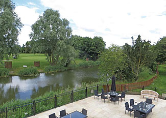 Park setting at Old Nene Golf & Country Club - Luxury lodge accommodation at Ramsey near Huntingdon Cambridgeshire England