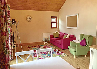 Living area in typical Muchwood Retreat Lodge ( Ref LP14260 ) Holiday Lodge at Old Nene Country Club Cambridgeshire
