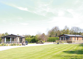 Lodge setting at Croft Park Little Weighton - Self Catering Accommodation near Hull Humberside England