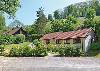 View of Appley Cottage ( Ref LP1026 ) at Exmoor Gate Holiday Lodges in Waterrow Somerset South West England