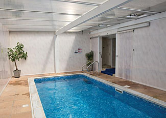 Indoor swimming pool at Exmoor Gate Lodges - Holiday Park near Waterrow in Somerset England