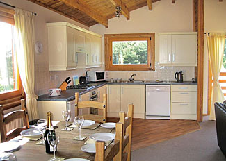 Open plan living area in Grange Lodge ( Ref 4563 ) Grange Park Holiday Lodge in Messingham Lincolnshire