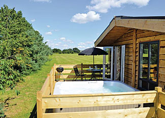 Setting of Honey Lodge VIP ( Ref LP7031 ) at Grange Park Lodges - Self Catering Lodge Accommodation at Messingham Lincolnshire England