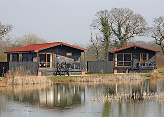 Lodge setting at High Lodge - Darsham Holiday Lodges near Southwold in Suffolk England