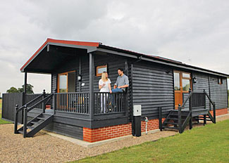 Typical Waters Edge 6 Lodge ( Ref LP7152 ) Self Catering Lodge Accommodation at High Lodge in Suffolk England