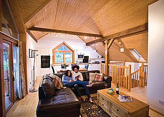 Living area in Glen Lodge ( Ref LP4599 ) Holiday Lodge at Glen Clova Lodges Kirriemuir Angus Scotland