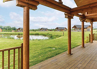 View from Sandpiper Lodge ( Ref LP5293 ) at Hornsea Lakeside Holiday Lodges - Yorkshire England