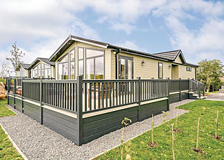 Typical Wainwright Premier Select Lodge ( Ref LP14734 ) Self Catering Lodge at Keswick Reach Holiday Lodges in Bewaldeth Cumbria