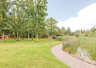 Holiday lodge setting at Ladera Retreat Lodges - Self catering accommodation in Congleton Cheshire