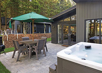 Photo of Landal Kielder Waterside Holiday Lodge in Northumberland - Beech Premier Spa Lodge with outdoor hot tub ( Ref LP14161 )