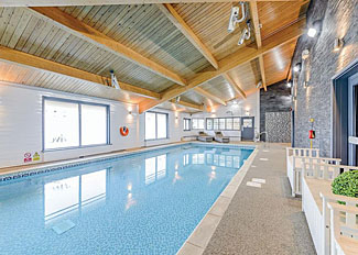 Indoor heated swimming pool at Landal Kielder Waterside - Holiday Park in Northumberland England