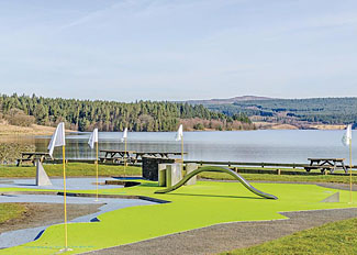 Mini golf at Kielder Water Northumberland England