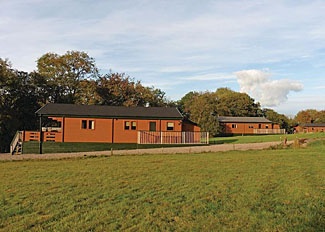 Lodge setting at Mill Meadow Holiday Park near Llandrindod Wells Wales