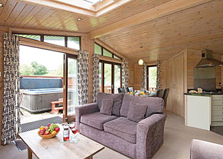 Staward Lodge living area ( Ref LP6822 ) Self catering accommodation at Parmontley Hall near Hexham Northumberland England