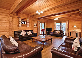 Lounge area of Foresters Spa Plus Lodge ( Ref LP2653 ) at Piperdam Holiday Lodges - Fowlis accommodation in Scotland
