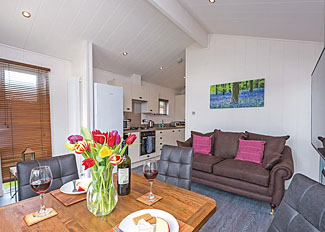 Living area in Linden 2 Premier Lodge ( Ref LP14238 ) Wareham holiday home in Dorset