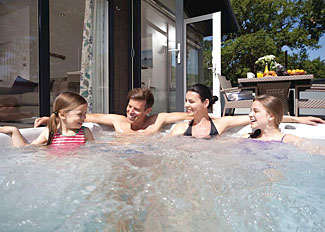 Enjoy your outdoor hot tub at Premier Lodges! Juniper 2 Premier Lodge ( Ref LP14237 ) Self catering Accommodation in Holton Heath Dorset