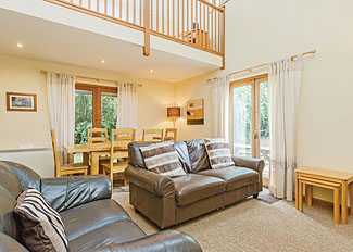 Wicket Lodge living area ( Ref LP2595 ) at Whipcott Water Holiday Lodges - Holcombe Rogus in Somerset England