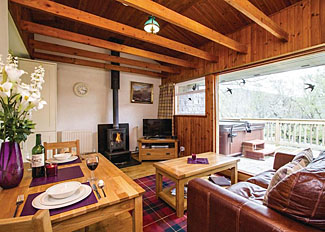Interior of Otter View Lodge ( Ref LP6313 ) Wildside Holiday Lodge at Whitebridge Inverness-shire Scotland
