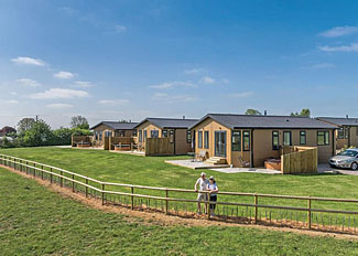 Park setting at New Oaks Farm Lodges - Self catering accommodation near West Lydford Somerset England