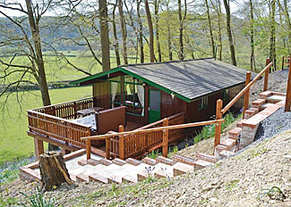 Setting of Hawthorn Spa Lodge ( Ref 13881 ) Holiday Lodge in Garthmyl Wales at Penllwyn Lodges in Montgomery