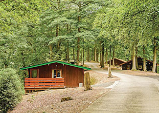 Park setting at Penllwyn Lodges near Garthmyl Montgomery Wales