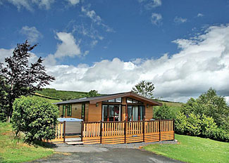 Setting of Derwen Lodge ( Ref LP3227 ) Lodge at Belan Bach Holiday Lodges Powys Wales