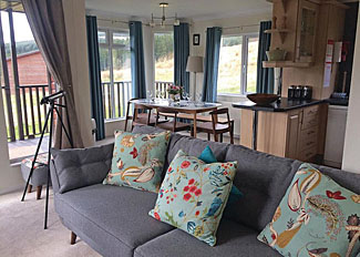 Living area in Oscars Lodge ( Ref LP15387 ) Clear Sky Lodges Kielder Northumberland Holiday Park in England
