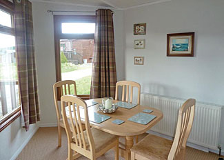 Dining area in Osprey Lodge ( Ref LP15388 ) Northumberland holiday accommodation at Clear Sky Lodges Kielder England